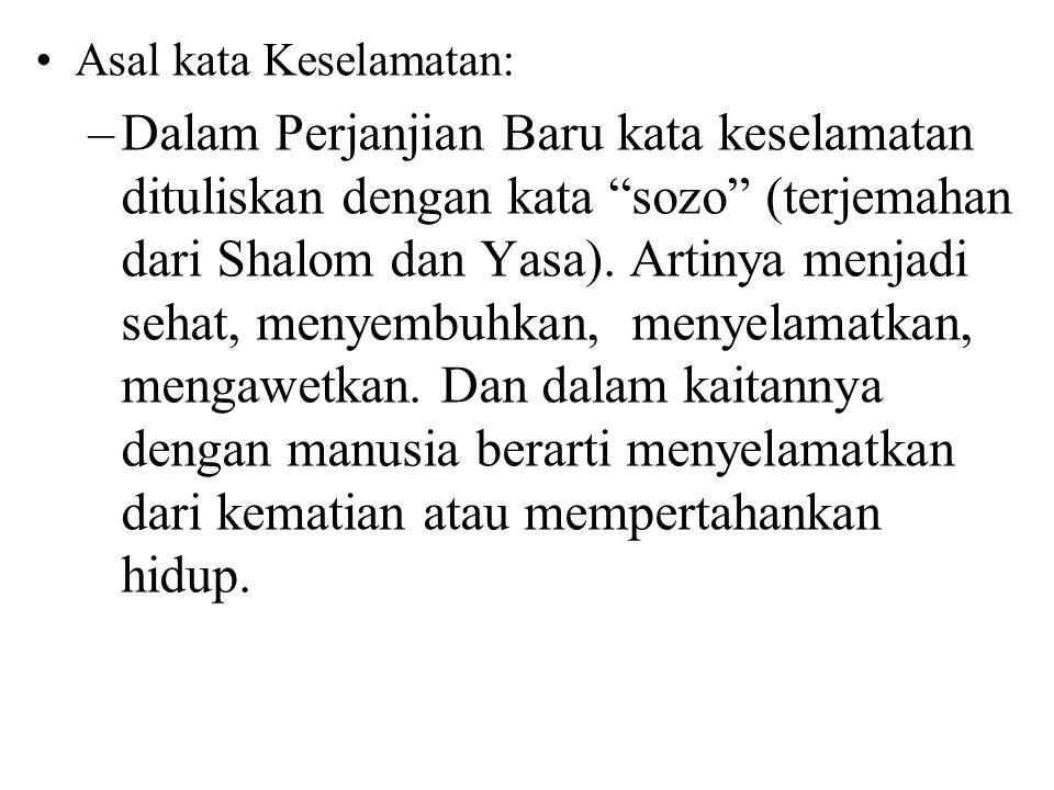 Asal kata Keselamatan: