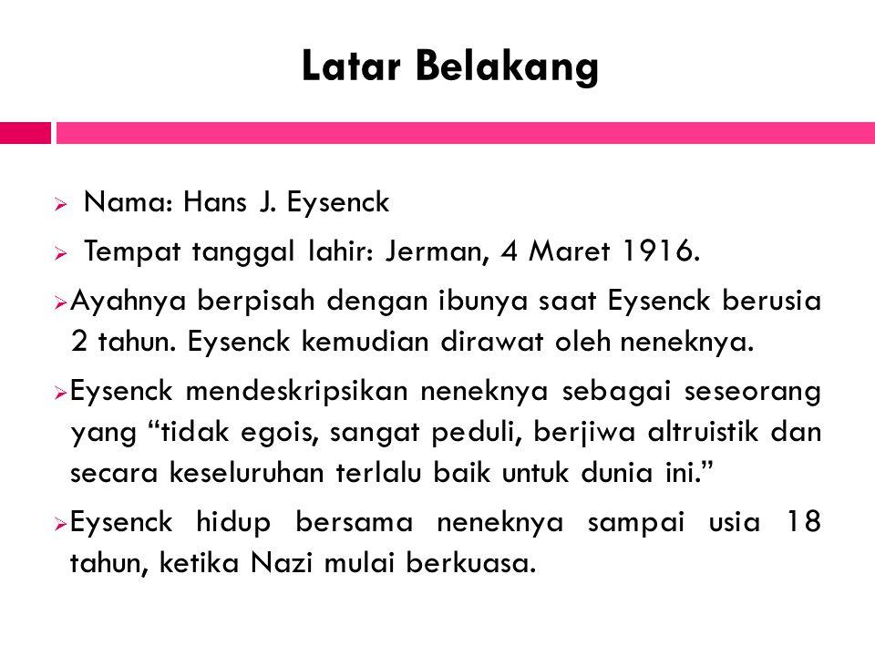 Latar Belakang Nama: Hans J. Eysenck