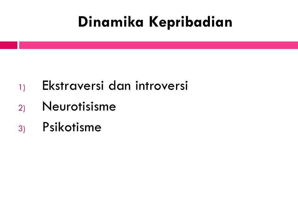 Dinamika Kepribadian Ekstraversi dan introversi Neurotisisme