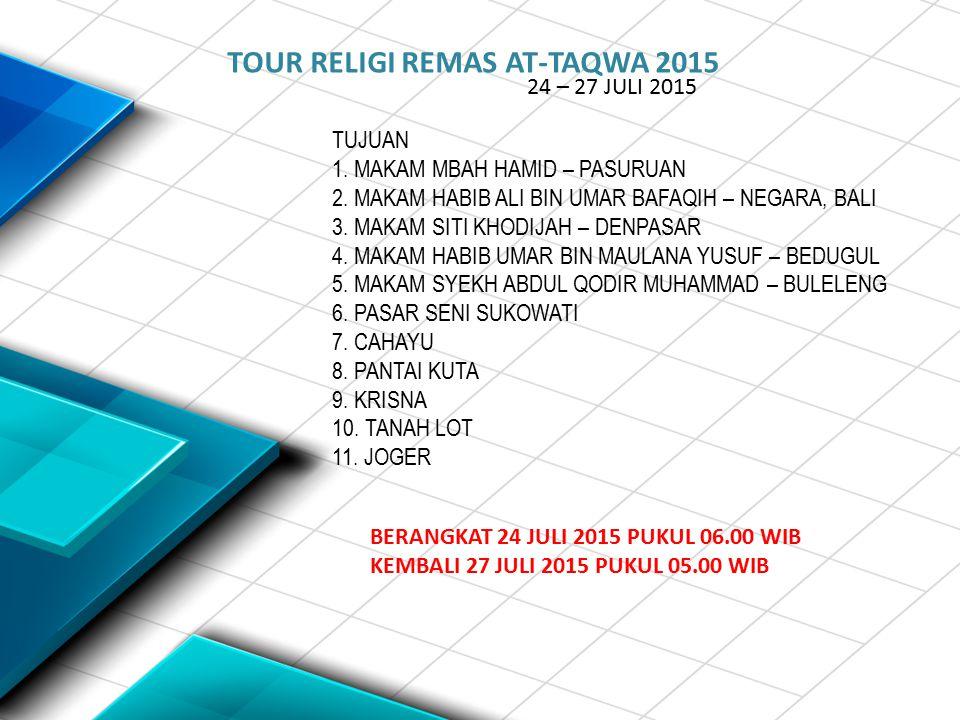 TOUR RELIGI REMAS AT-TAQWA 2015