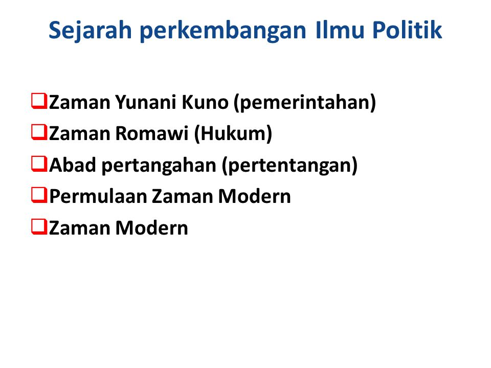 Sejarah perkembangan Ilmu Politik