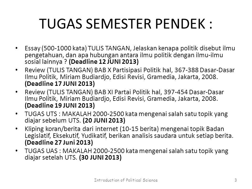 TUGAS SEMESTER PENDEK :
