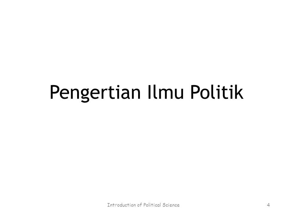 Pengertian Ilmu Politik