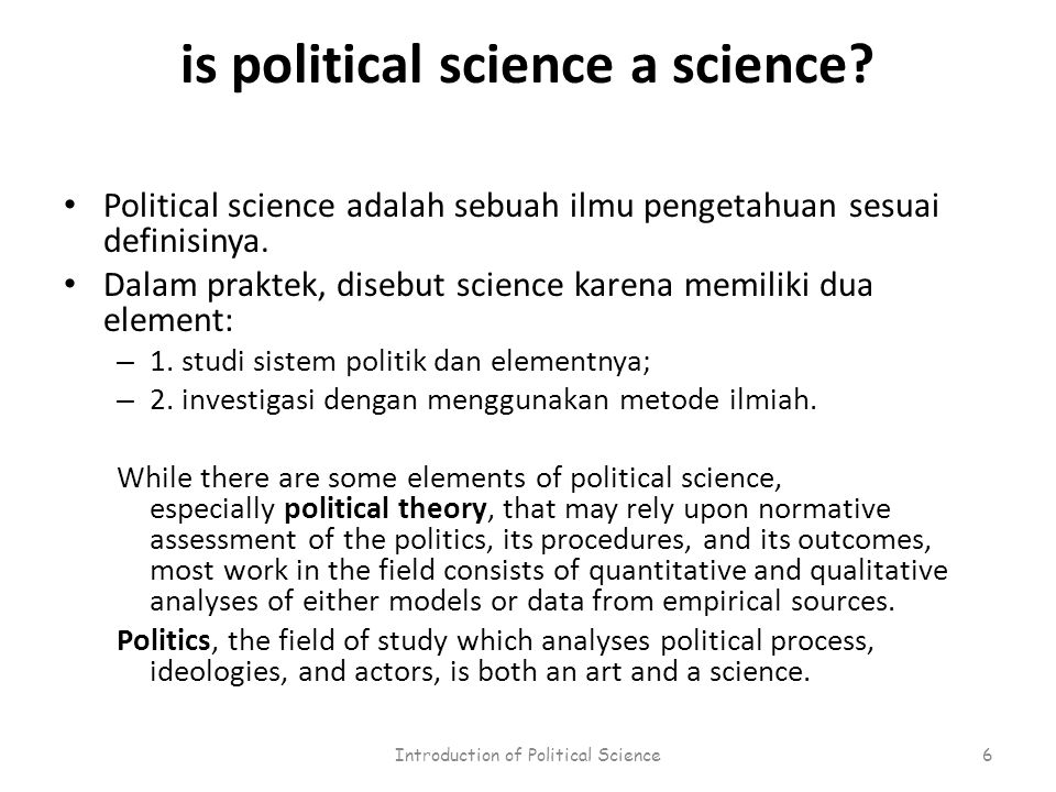 is political science a science