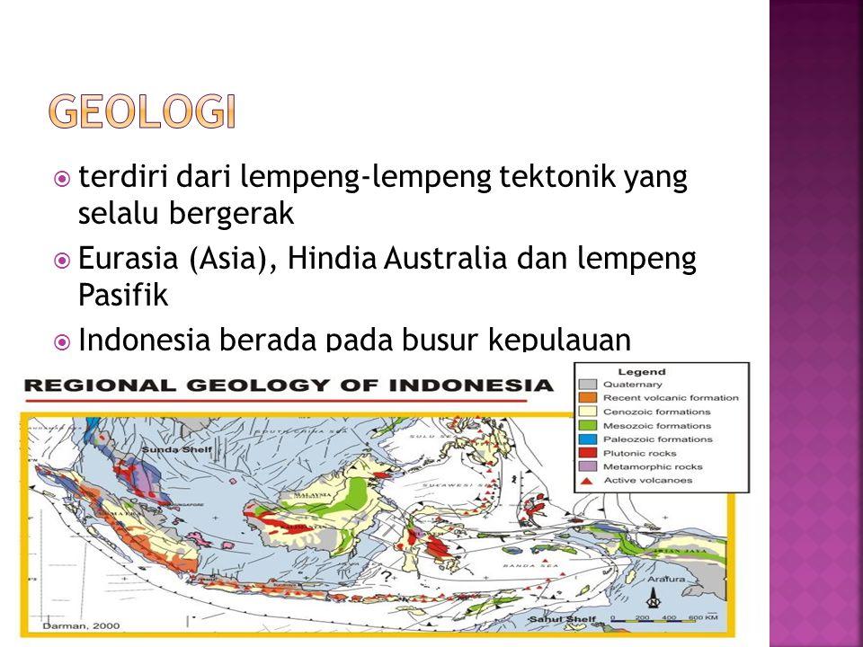 GEOLOGI terdiri dari lempeng-lempeng tektonik yang selalu bergerak