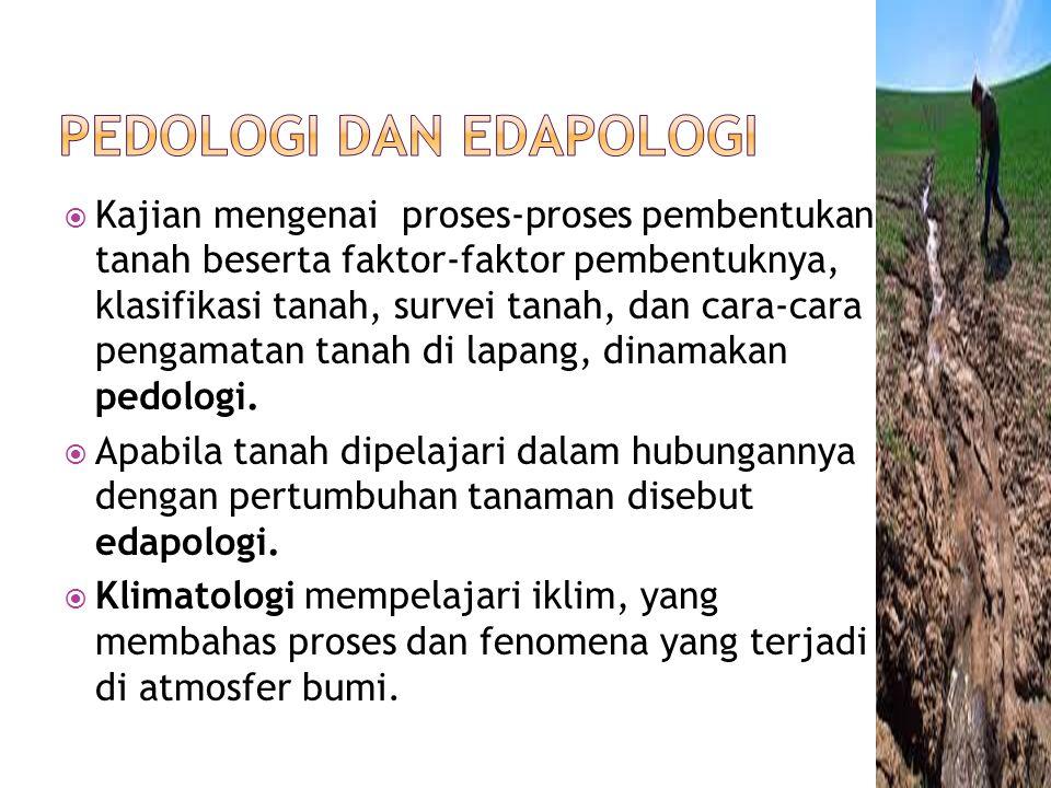 Pedologi dan Edapologi