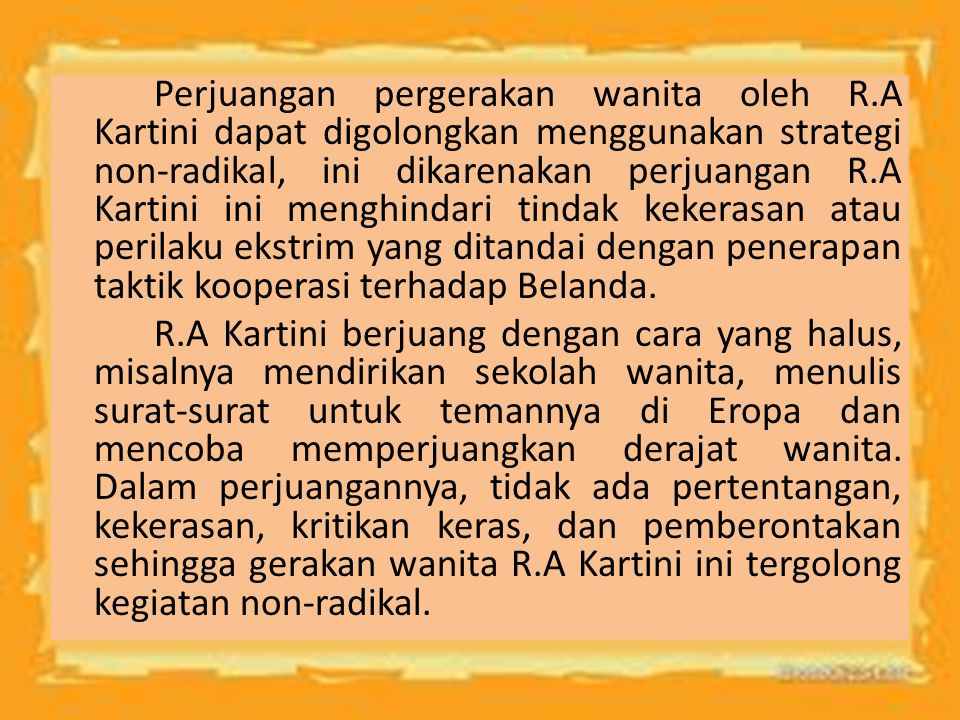 Perjuangan pergerakan wanita oleh R