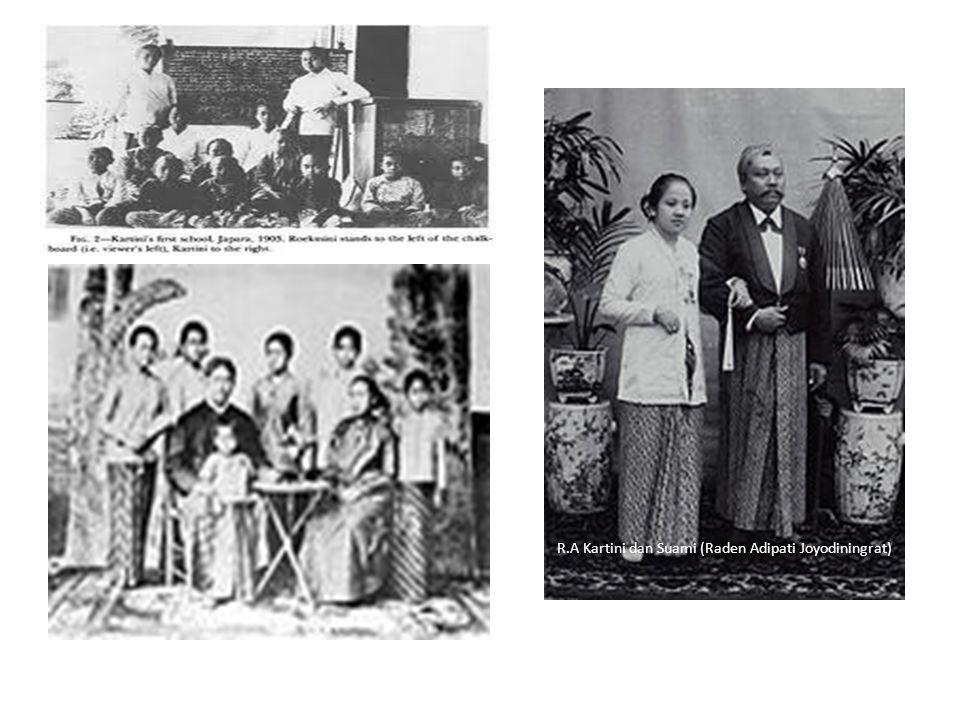 R.A Kartini dan Suami (Raden Adipati Joyodiningrat)