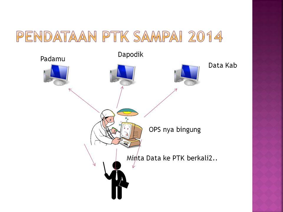 Pendataan ptk sampai 2014 Dapodik Padamu Data Kab OPS nya bingung