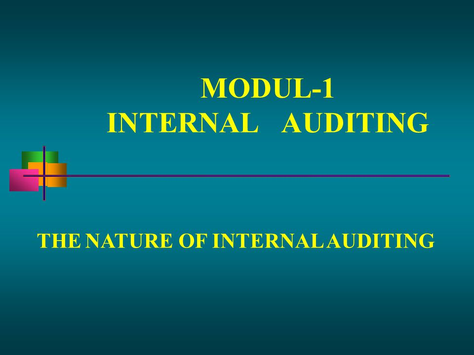 MODUL-1 INTERNAL AUDITING THE NATURE OF INTERNAL AUDITING