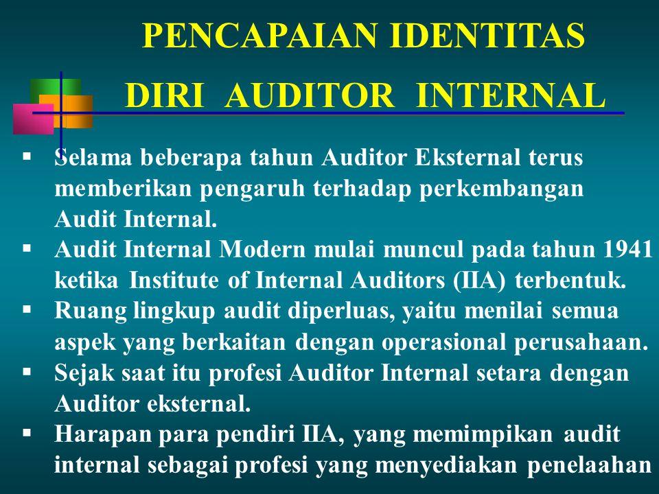 PENCAPAIAN IDENTITAS DIRI AUDITOR INTERNAL