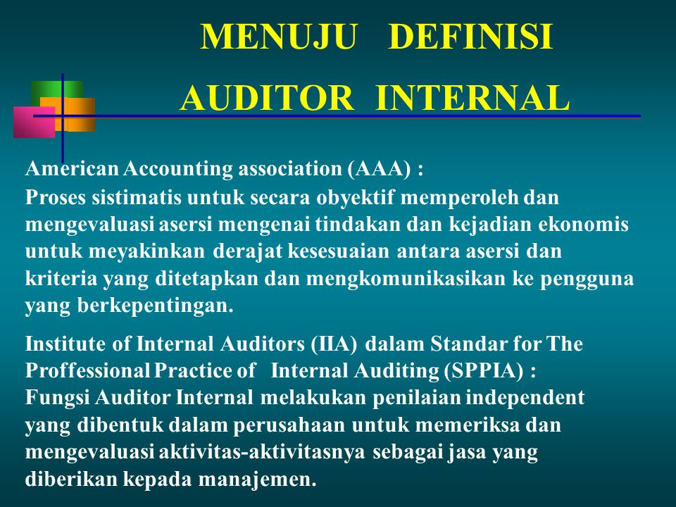 MENUJU DEFINISI AUDITOR INTERNAL