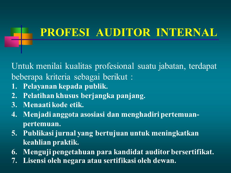 PROFESI AUDITOR INTERNAL
