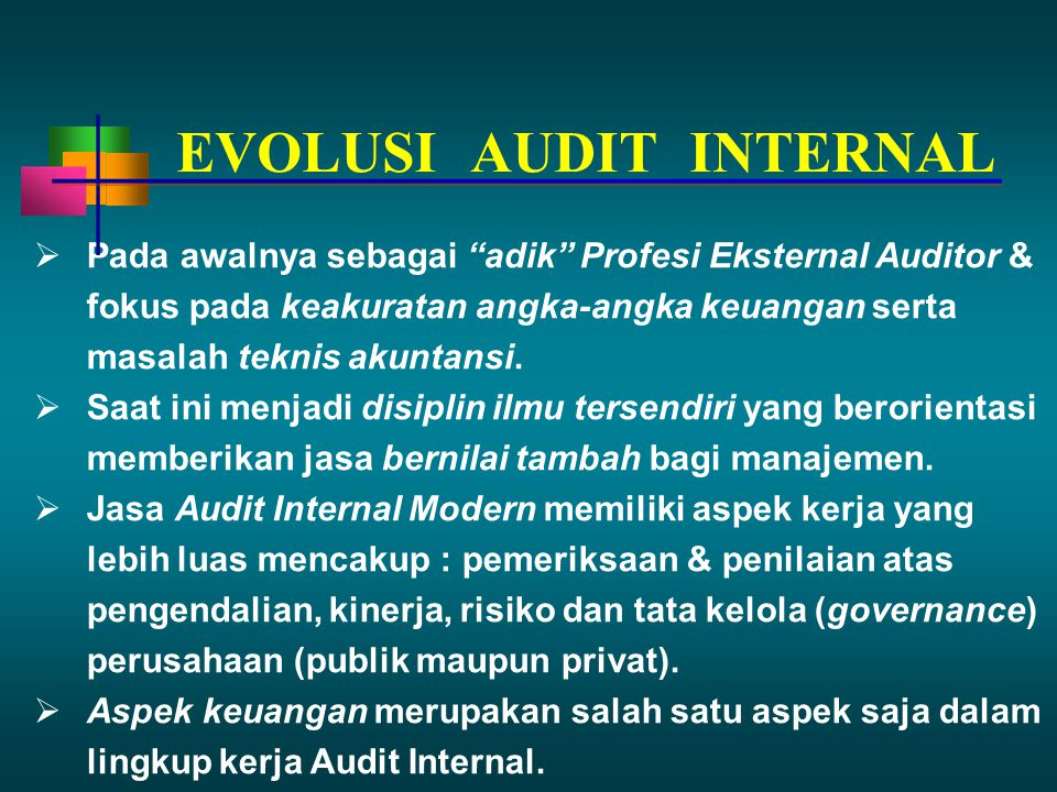 EVOLUSI AUDIT INTERNAL