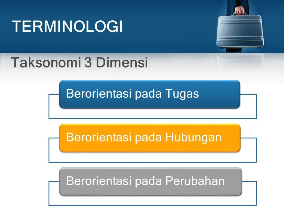 TERMINOLOGI Taksonomi 3 Dimensi Berorientasi pada Tugas