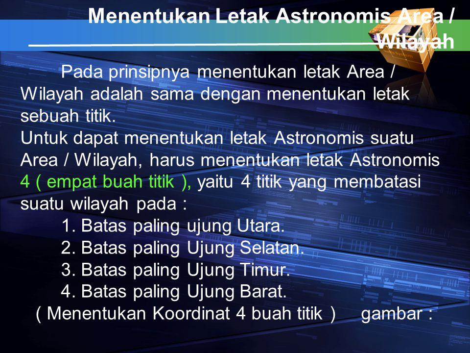 Menentukan Letak Astronomis Area / Wilayah