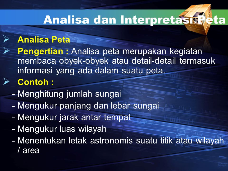Analisa dan Interpretasi Peta