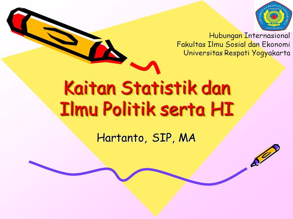 Kaitan Statistik dan Ilmu Politik serta HI