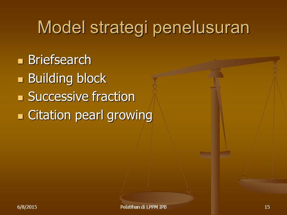 Model strategi penelusuran