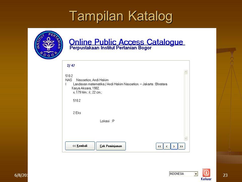 Tampilan Katalog 4/16/2017 Pelatihan di LPPM IPB