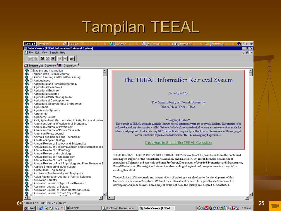 Tampilan TEEAL 4/16/2017 Pelatihan di LPPM IPB