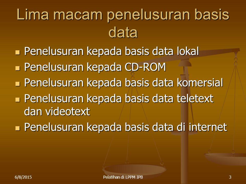 Lima macam penelusuran basis data