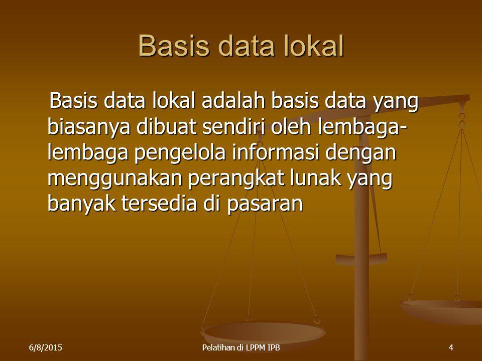 Basis data lokal