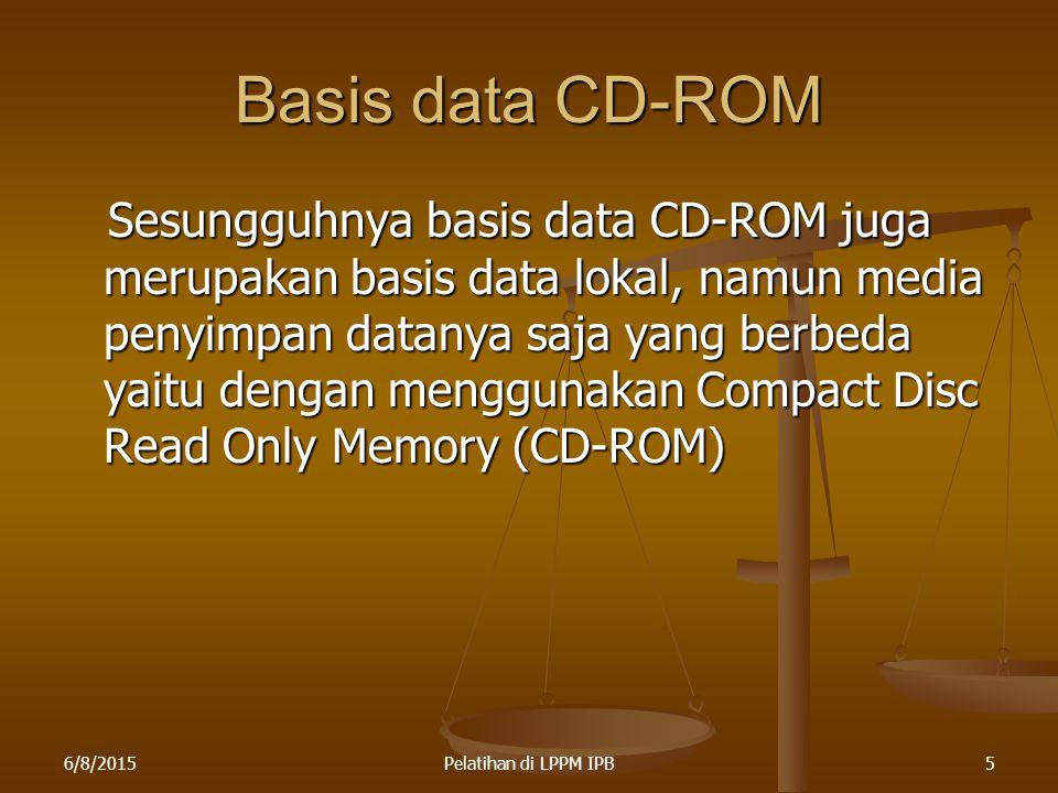 Basis data CD-ROM