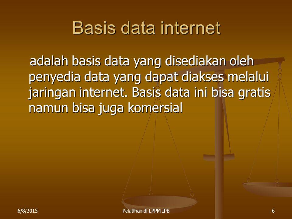 Basis data internet