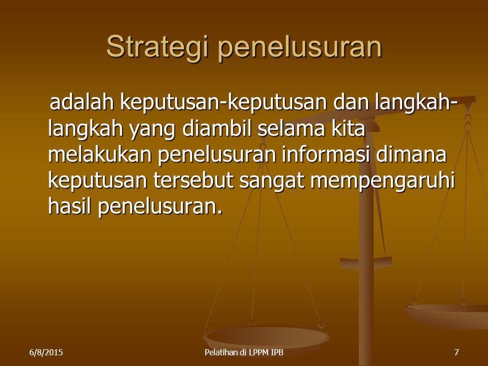 Strategi penelusuran