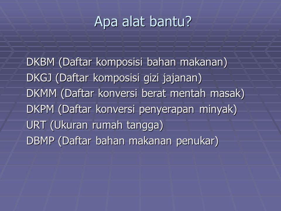 Apa alat bantu DKBM (Daftar komposisi bahan makanan)