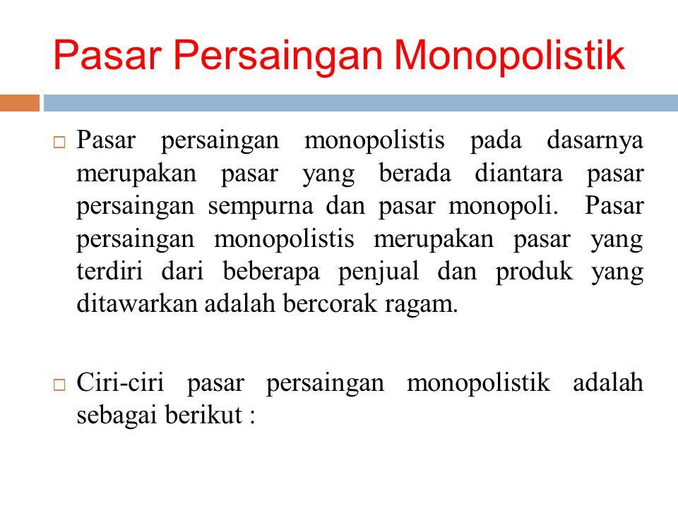 Pasar Persaingan Monopolistik
