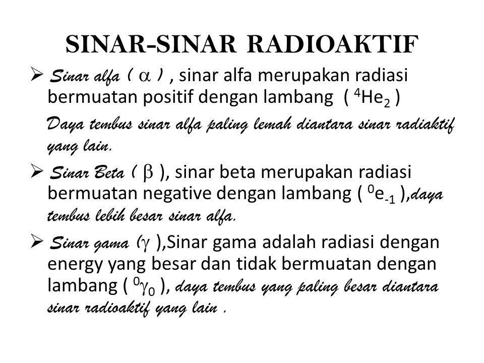 SINAR-SINAR RADIOAKTIF