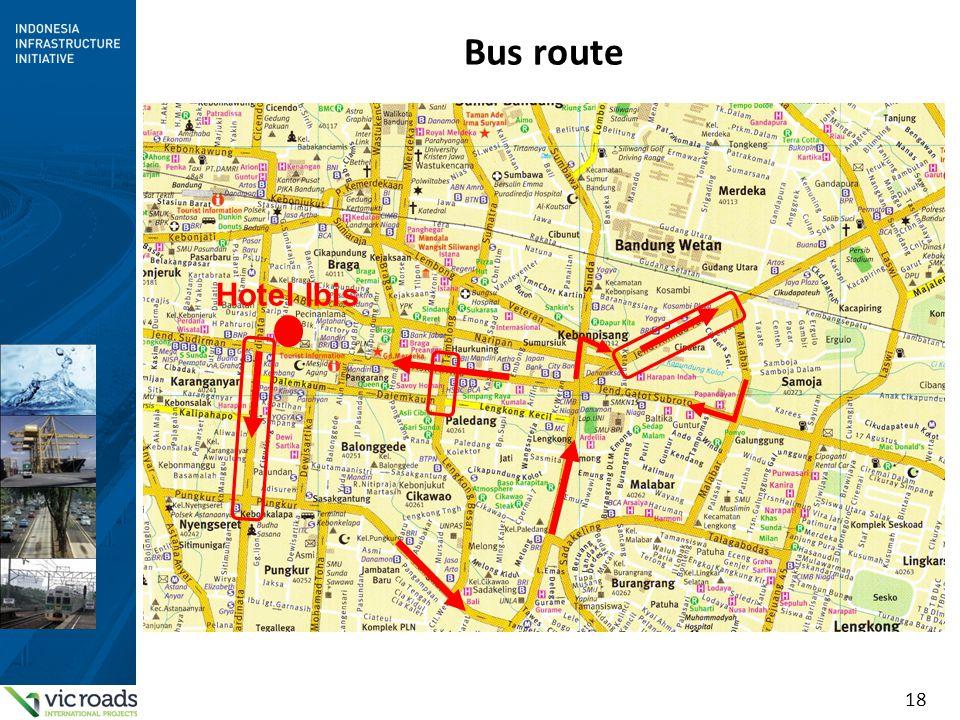Bus route Hotel Ibis
