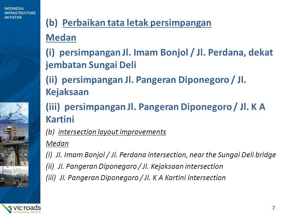 (b) Perbaikan tata letak persimpangan Medan