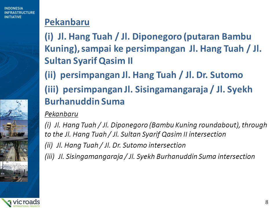 (ii) persimpangan Jl. Hang Tuah / Jl. Dr. Sutomo