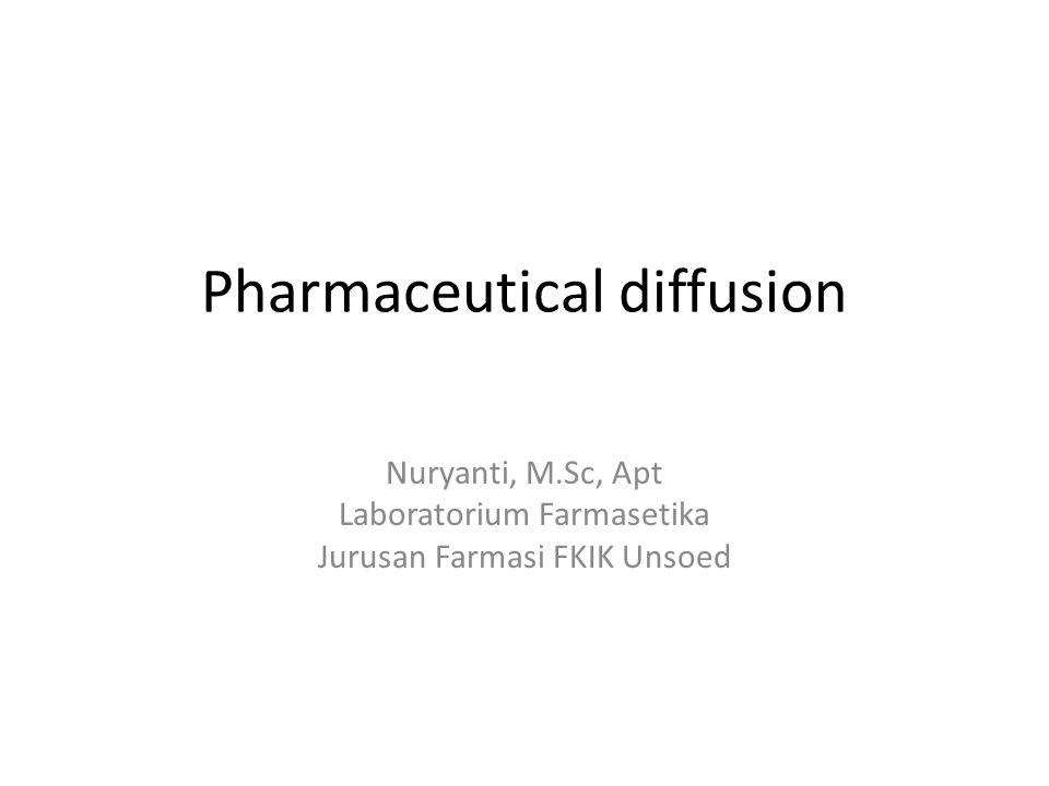Pharmaceutical diffusion