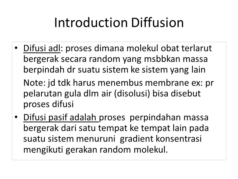 Introduction Diffusion