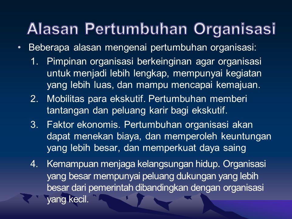 Alasan Pertumbuhan Organisasi