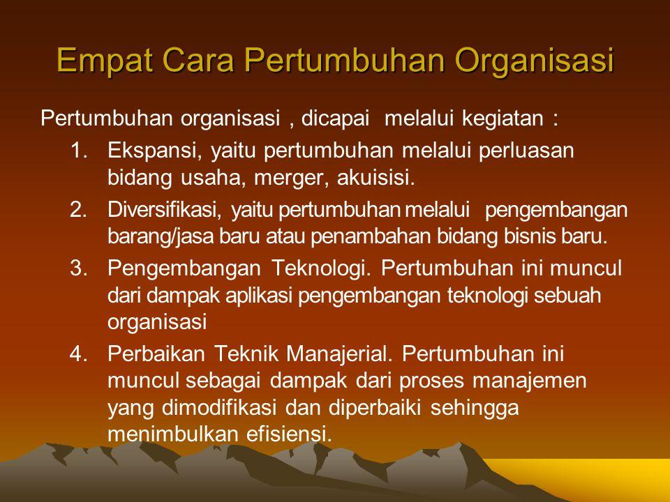 Empat Cara Pertumbuhan Organisasi