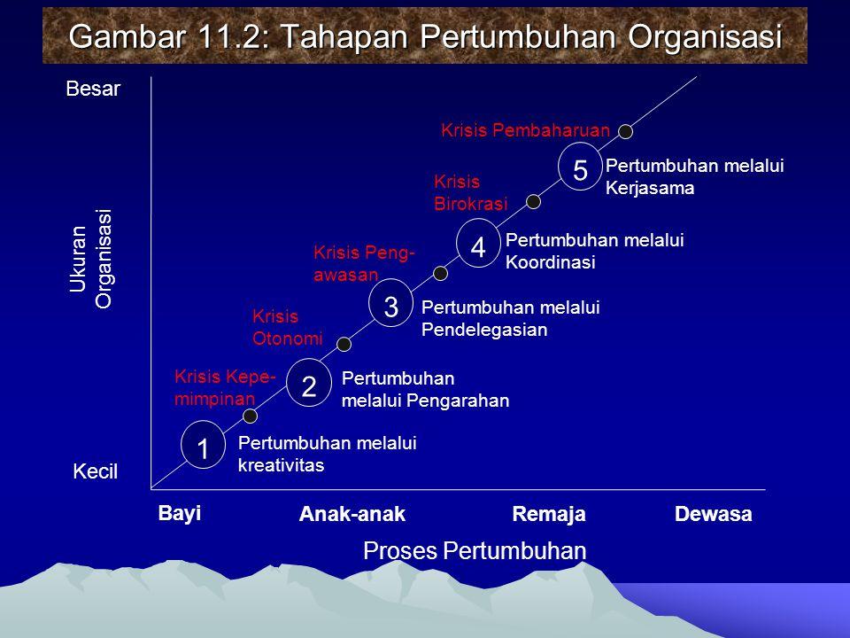Gambar 11.2: Tahapan Pertumbuhan Organisasi