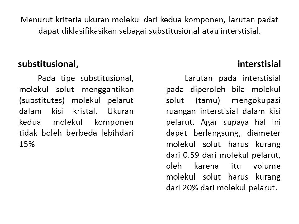 substitusional, interstisial