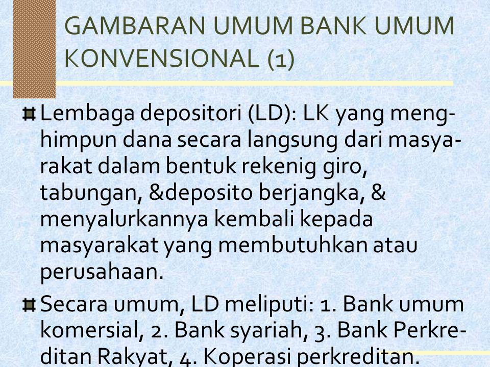 GAMBARAN UMUM BANK UMUM KONVENSIONAL (1)