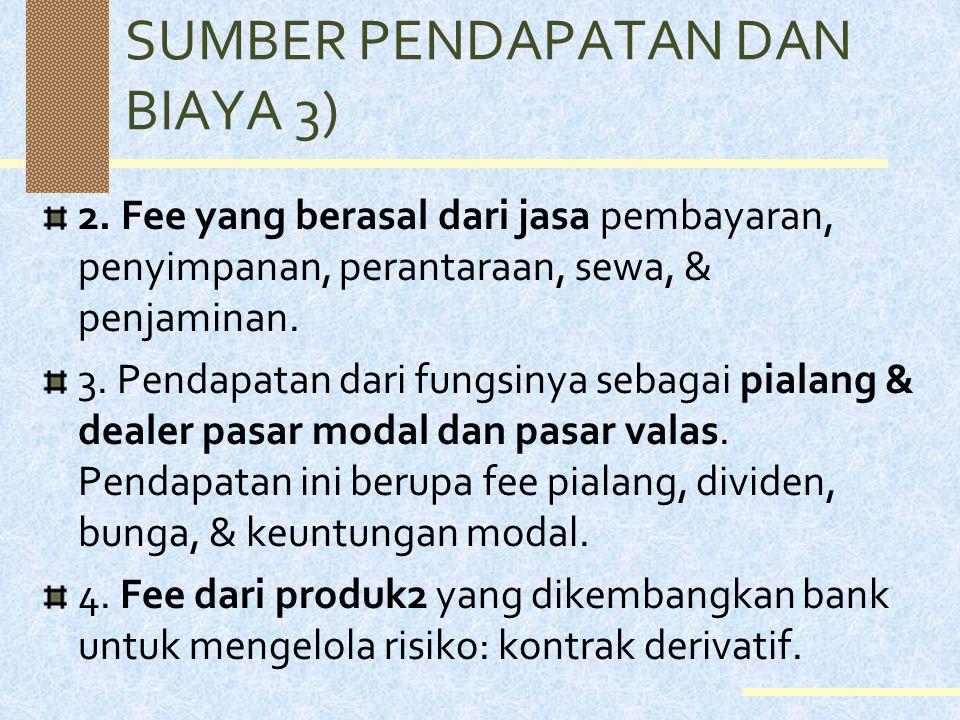 SUMBER PENDAPATAN DAN BIAYA 3)
