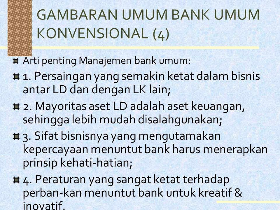 GAMBARAN UMUM BANK UMUM KONVENSIONAL (4)