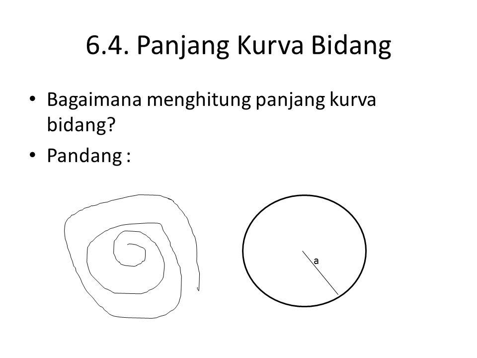 6.4. Panjang Kurva Bidang Bagaimana menghitung panjang kurva bidang