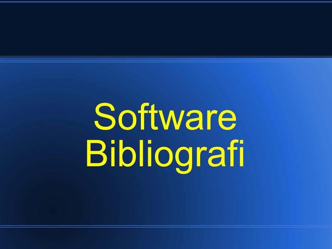 Software Bibliografi