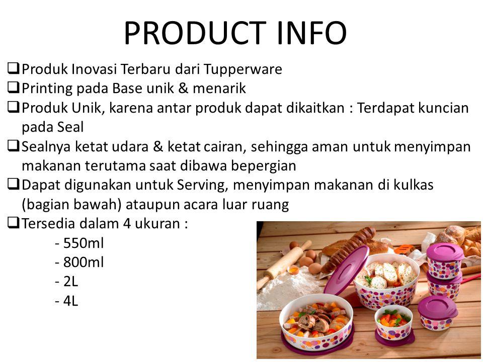 PRODUCT INFO Produk Inovasi Terbaru dari Tupperware