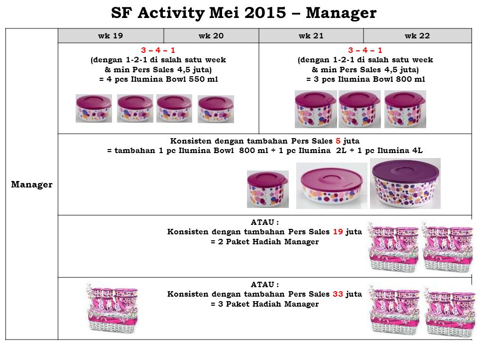 SF Activity Mei 2015 – Manager
