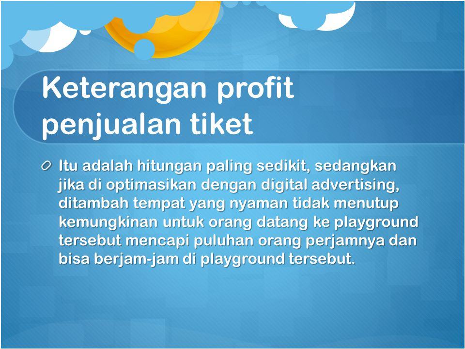 Keterangan profit penjualan tiket
